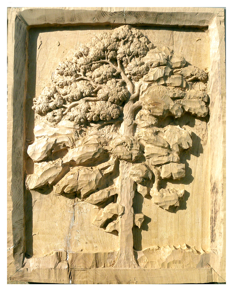 OneOak relief carving by Terry Hardaker as of 26th June 2012