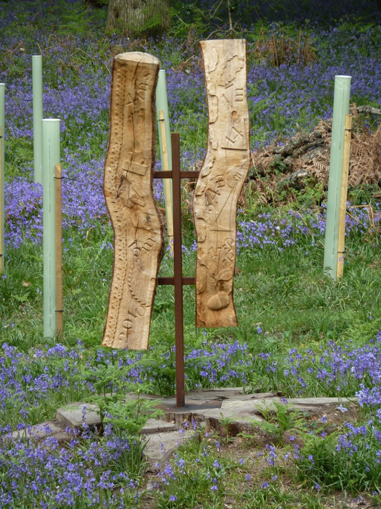 OneOak sculpture in the woods April 2011