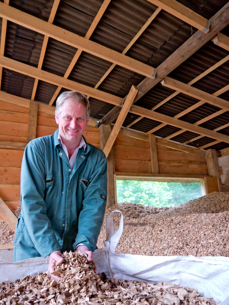 James Norman of Oxford Renewables with the OneOak woodchip