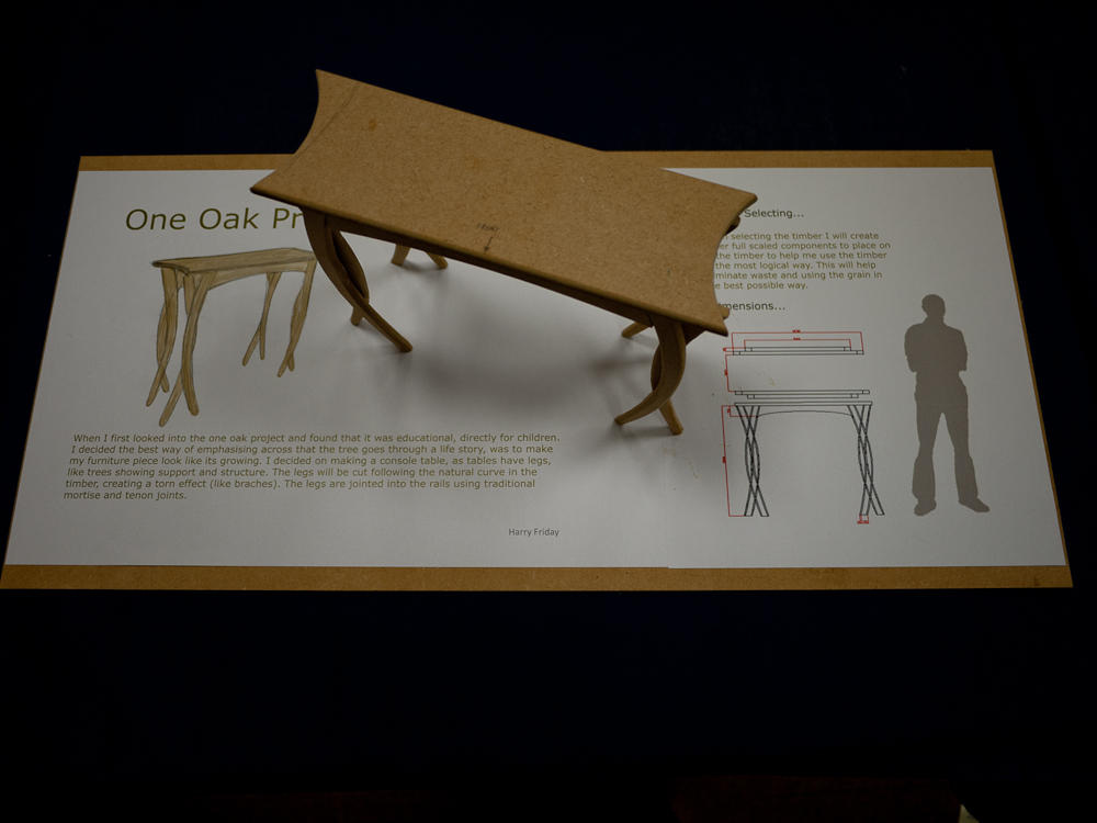OneOak fine furniture competition winner entry by Harry Friday. Model and concept design.