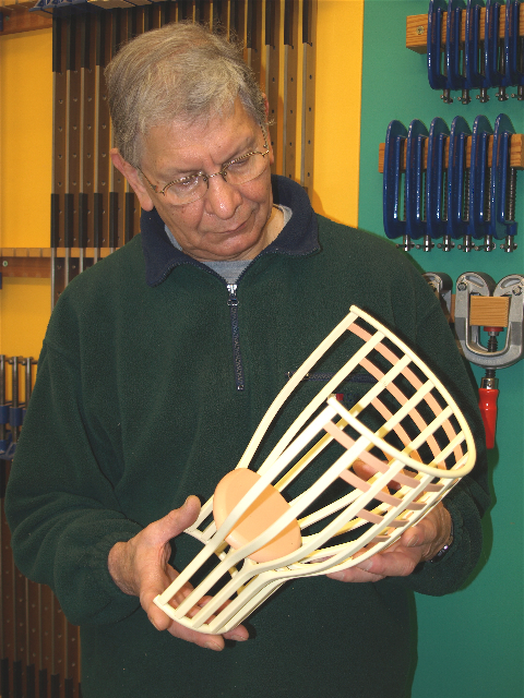 Robert Ingham studies the model of the OneOak Throne