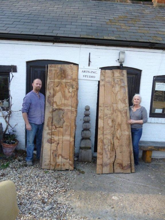 Richard Fox and Jen Newman-Fox with their OneOak wood