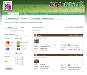 myForest search