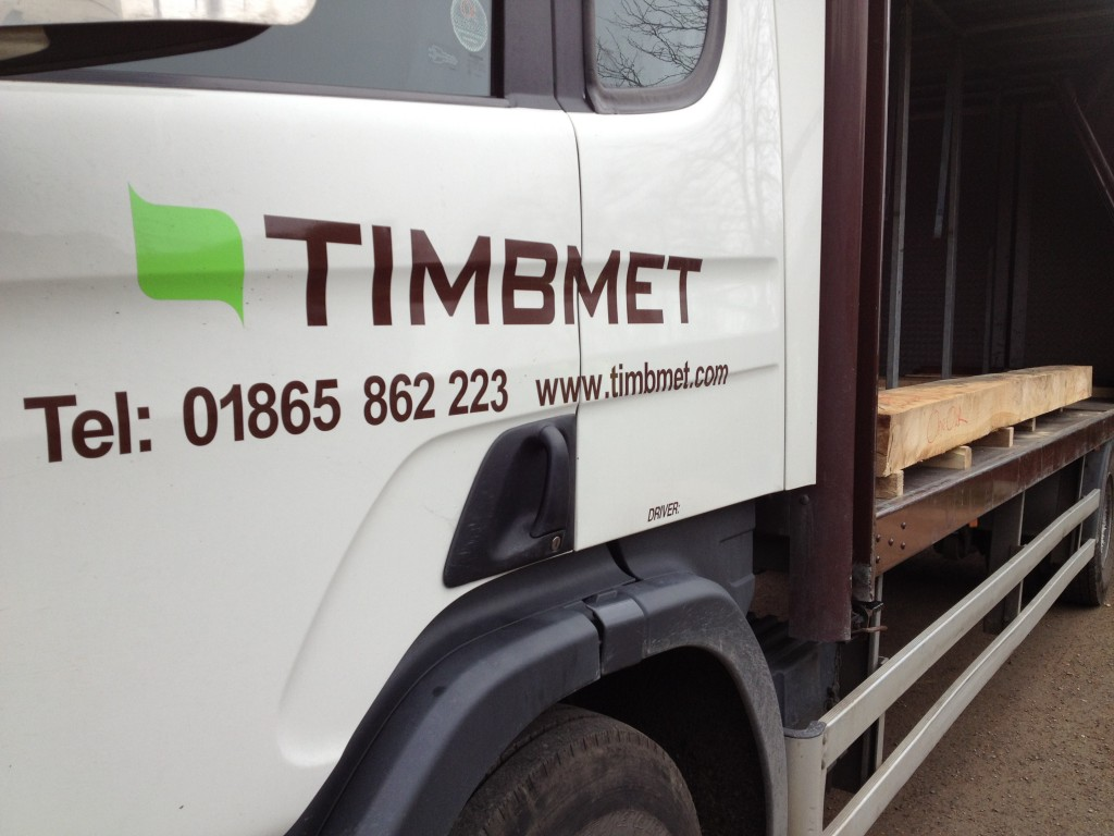 Timbmet collect OneOak beam for Trow project
