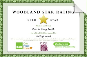 Woodland Star Rating certificate