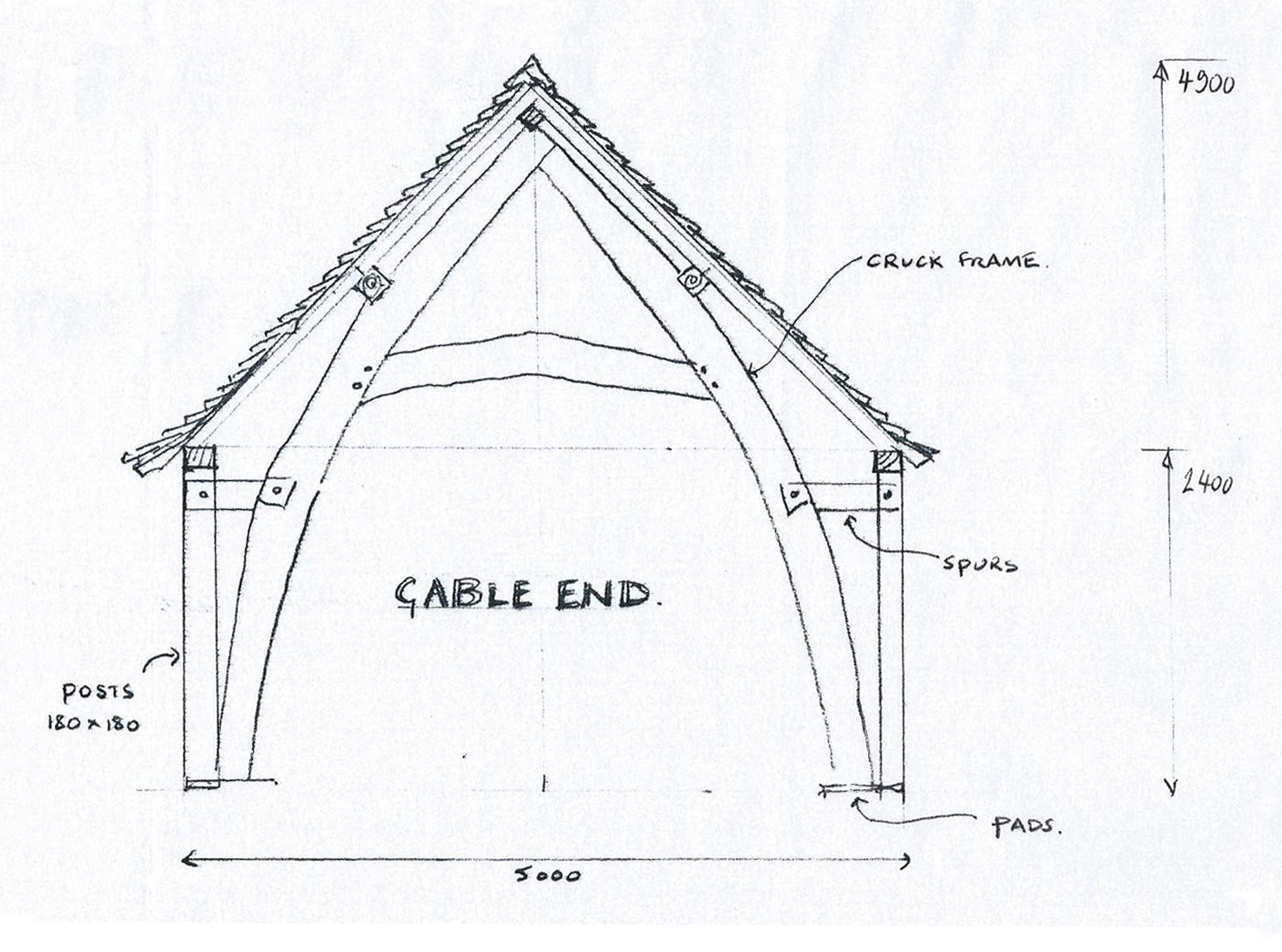 Harcourt timber frame - gable end