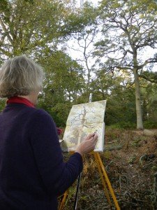 Rebecca Hind captures the OneOak in autumn colours with watercolours, October 2009
